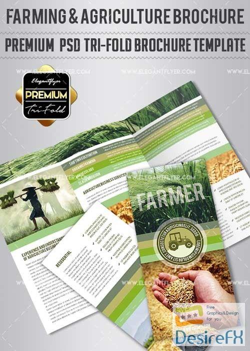farming agriculture v1 premium tri fold psd brochure template