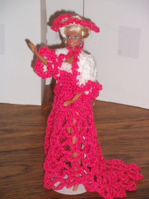 New Handmade  BARBIE Doll CLOTHES  VICTORIAN by NANNYCHERYLKATE, $30.00
