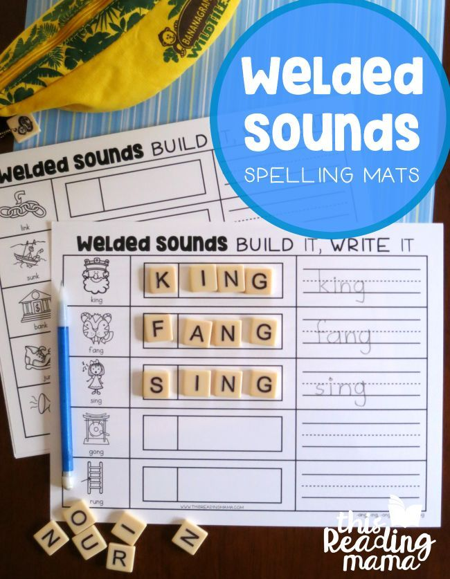 FREE Welded Sounds Spelling Mats This Reading