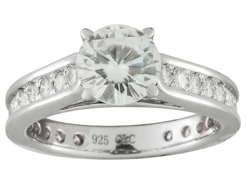 Moissanite Fire 2 15ct Diamond Equivalent Weight Round Platineve Ring Rings Moissanite Jewelry