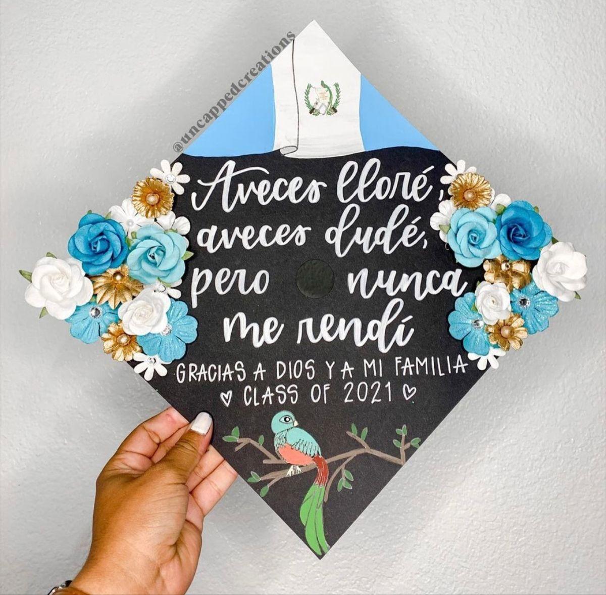 Guatemalan Grad Cap Design In 2021 Grad Cap Designs Graduation Cap Toppers Graduation Cap Designs