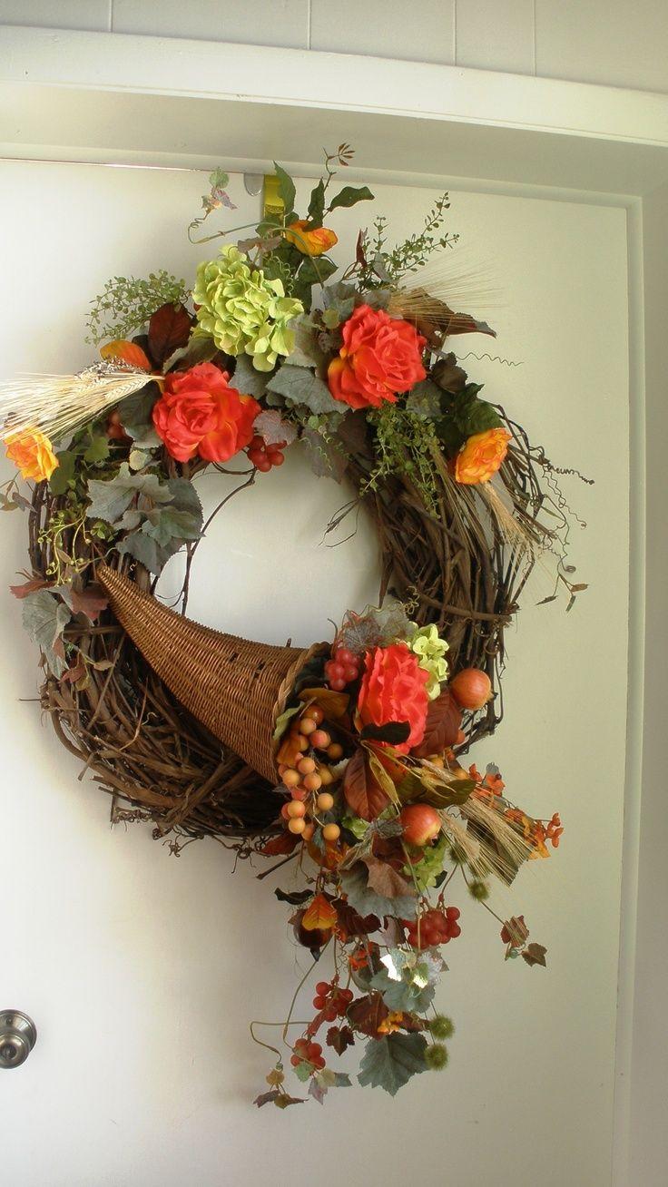 cornucopia wreath - Google Search