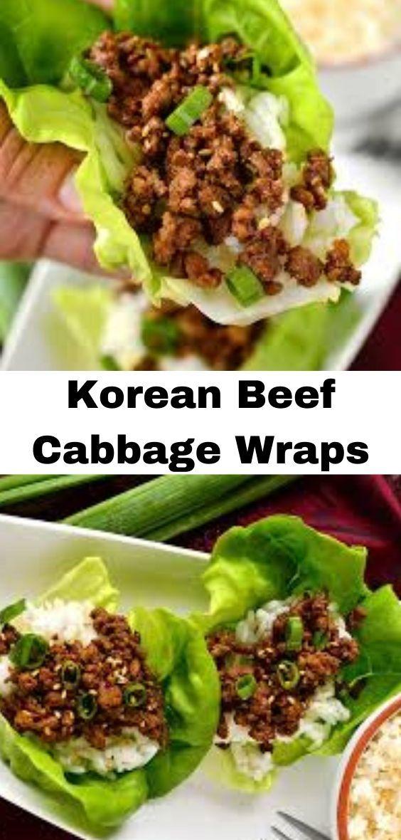 Korean Beef Cabbage Wraps | BixBox