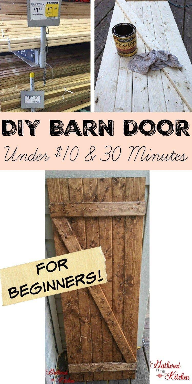#beginners #minutes #under #barn #door #diy #for #and #inDIY Barn Door Under $10 in 30 Minutes DIY B...