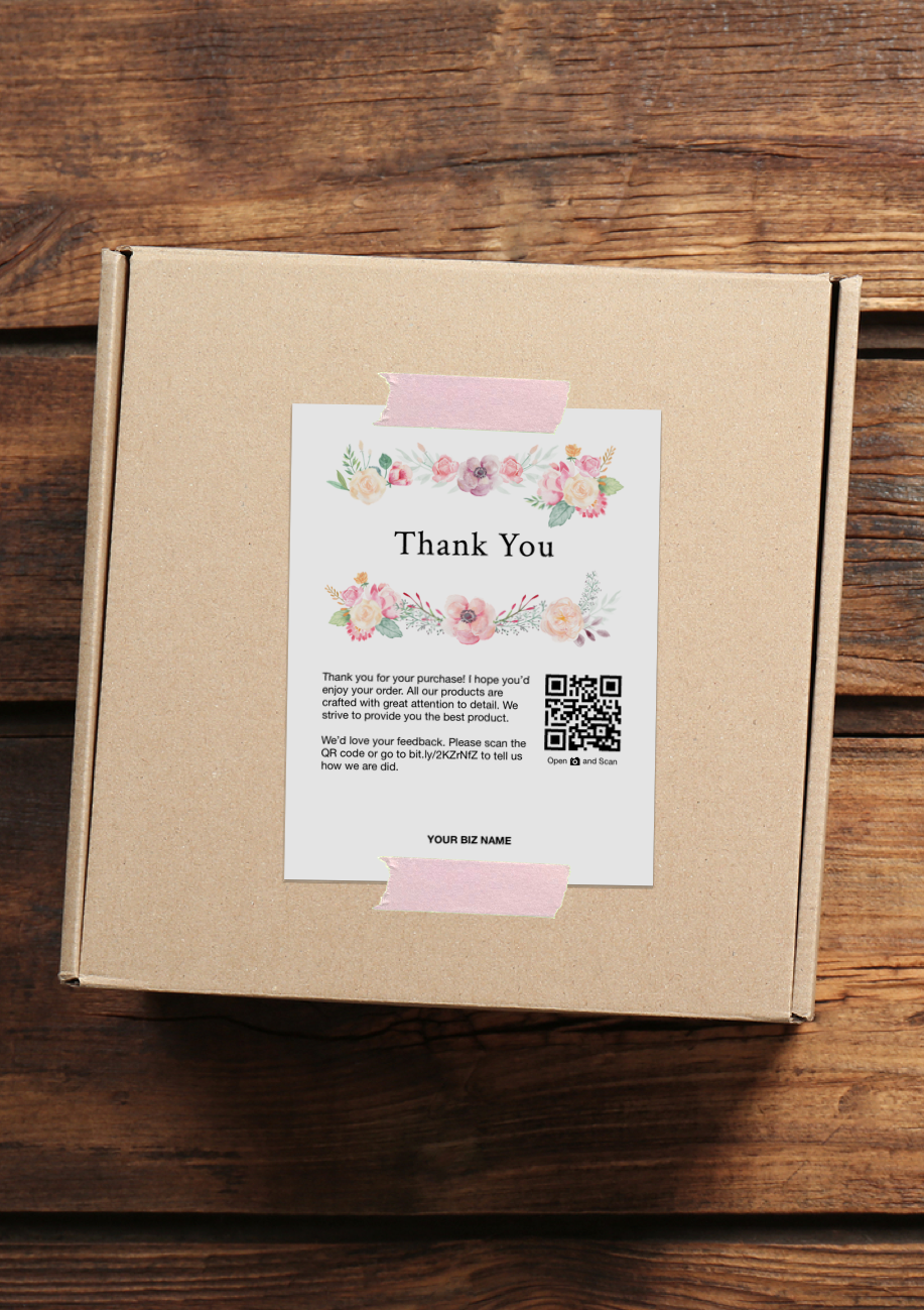 62a53b44d3e0a Business Thank You Cards, Thank You For Your Purchase Cards. Drive ...