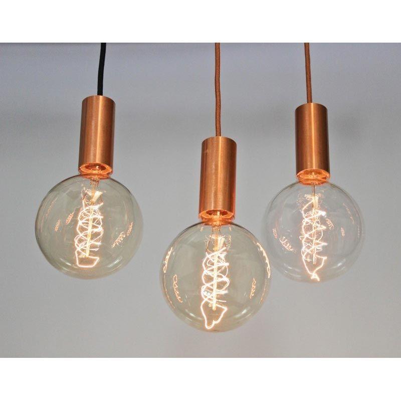 suspension luminaire aqua douille cuivre. Black Bedroom Furniture Sets. Home Design Ideas
