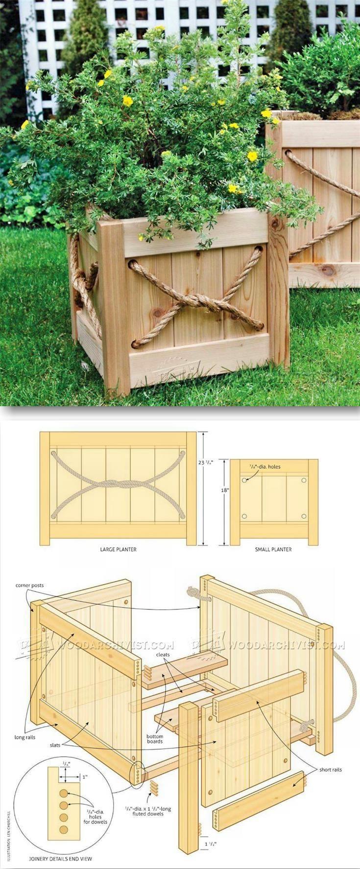 cedar planter plans outdoor plans and projects woodarchivist
