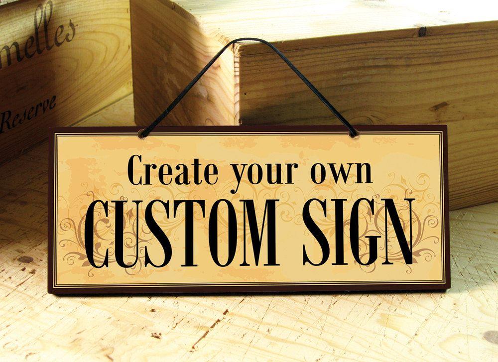 VENICE Custom Signs in Yellow Red & Brown. Door by AbeloClocks