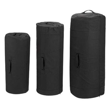 fe9e5ceca Black Heavyweight 30 x 50 Zipper Duffle Bag   Military Duffle Bags ...