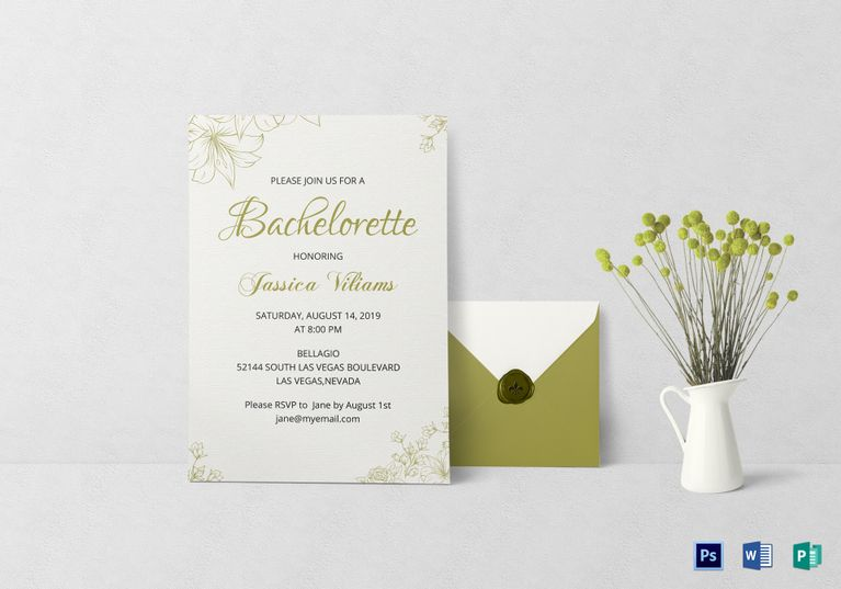 Bachelorette Party Invitation Template Invitation Card Templates - Invitation Flyer Template