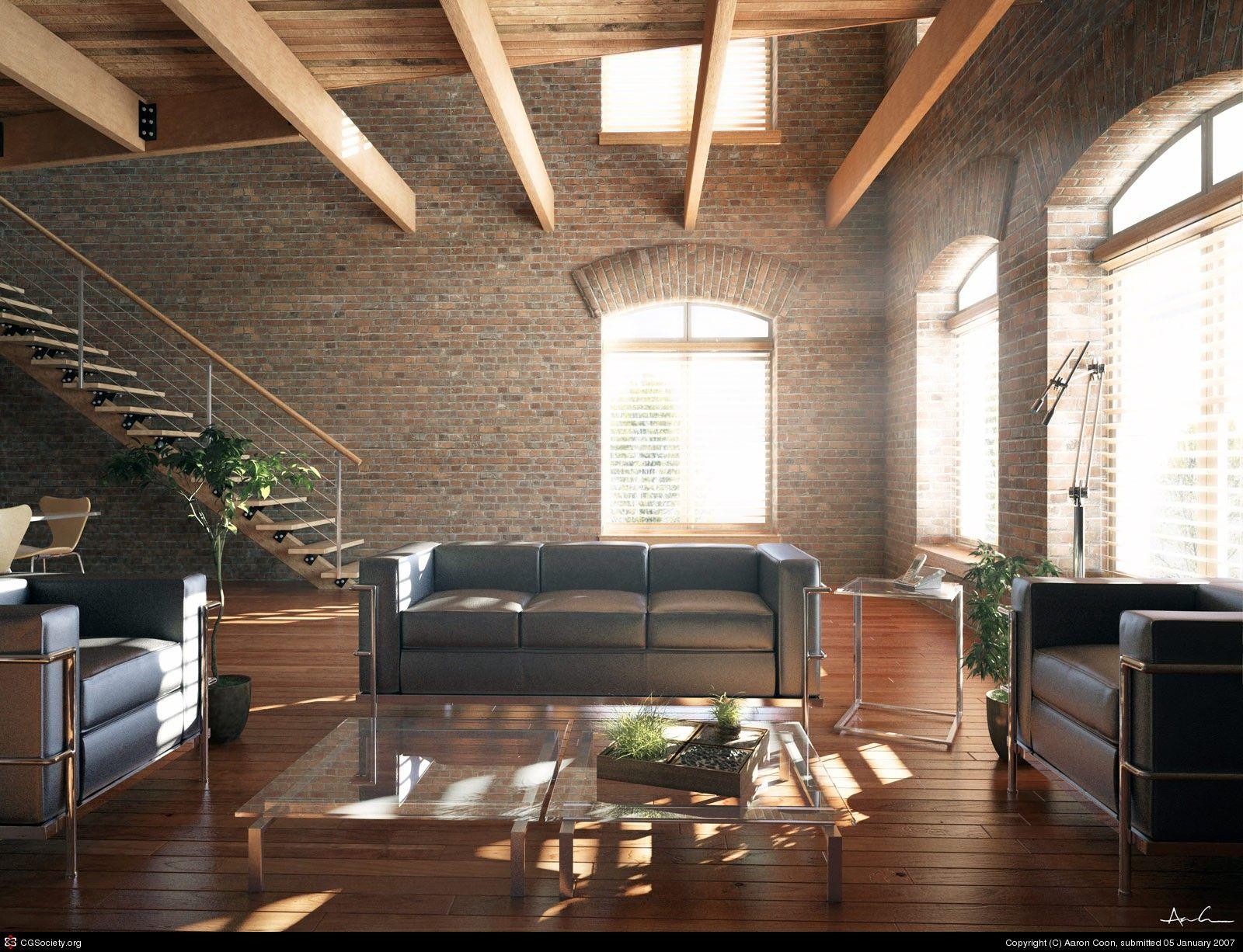 Interior Loft Space Nice