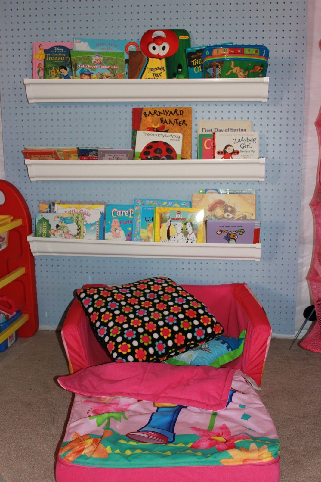 Achieving creative order client spaceunfinished basement turned