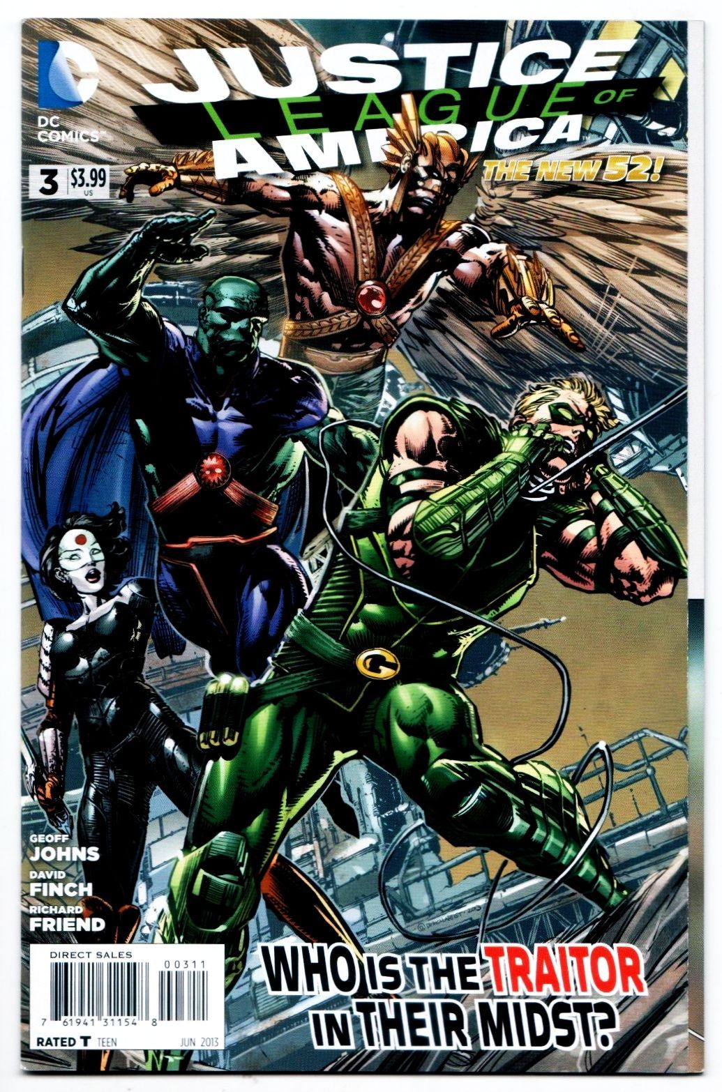 DC Justice League #18 Variant Comic Book 2013 New 52