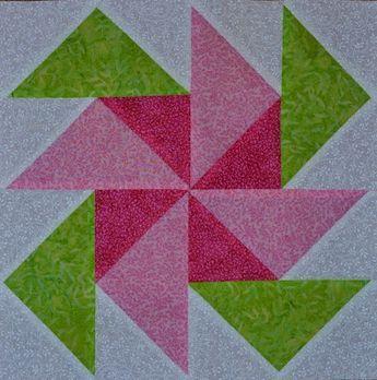 Image Result For 12 Inch Flower Quilt Blocks Pinwheel Quilt Block Quilt Square Patterns Flower Quilt