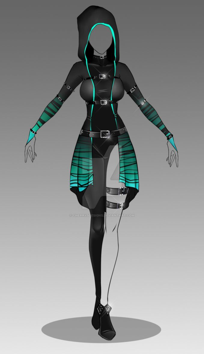 how to draw futuristic outfits