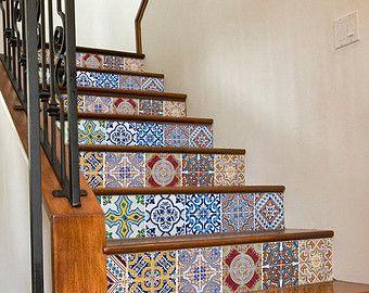 Staircase Decals Tile Decal Staircase Portuguese Tiles Tile - Portugiesische fliesen küche