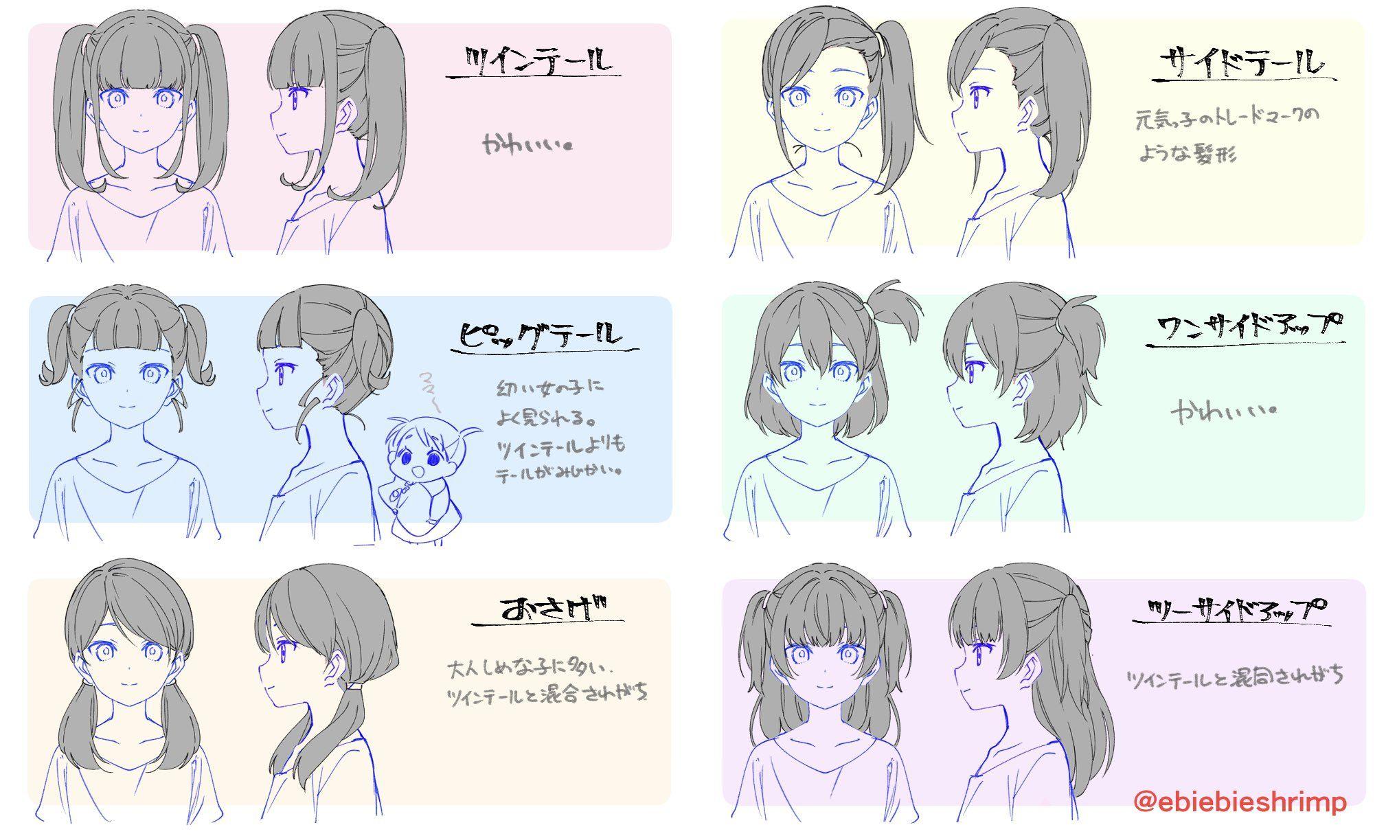朱里 Shuri On Twitter How To Draw Hair Drawing Hair Tutorial Drawing Expressions