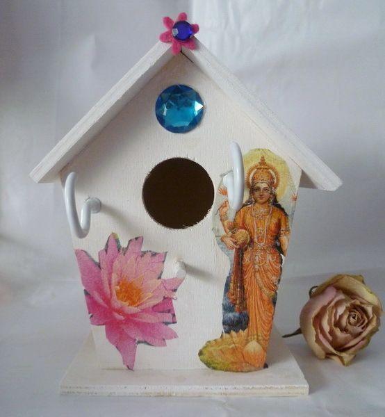 Schlüsselbretter & -kästen - ღ Elfenhäuschen Bollywood ღ - ein Designerstück von Feenstaub02 bei DaWanda