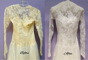 Old Yellowed Wedding Gowns Can Be Rescued Antique Wedding Dresses Wedding Dress Restoration Wedding Gowns Vintage