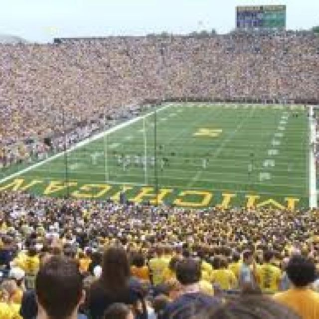 Welcome To The Big House Michigan Football Michigan Go Blue Michigan