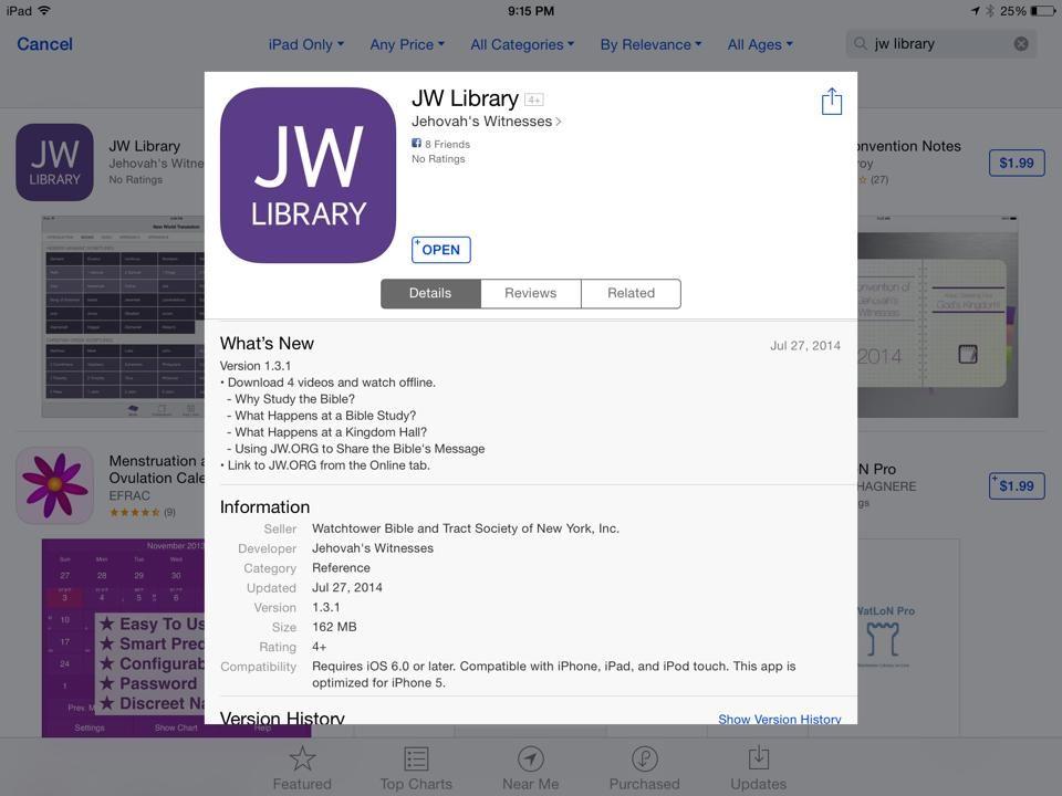 New Updates to JW Library app 7/28/2014 JW Pinterest