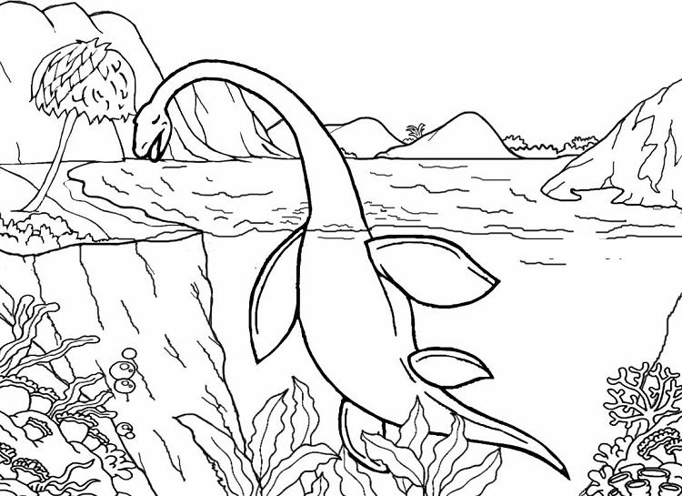 water dinosaur coloring pages   Coloring Pages For Kids   Pinterest ...
