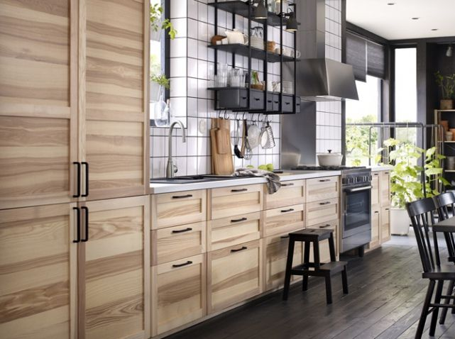 alerte tendance du bois et rien que du bois chez moi cuisine kitchen pinterest. Black Bedroom Furniture Sets. Home Design Ideas