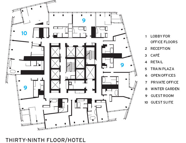 The Shard London Architecture Skyscrapers Hotel Floor Plan