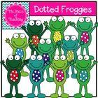 This clipart set includes all of the images shown as well as a black and white version of the dotted froggy.   Enjoy!...