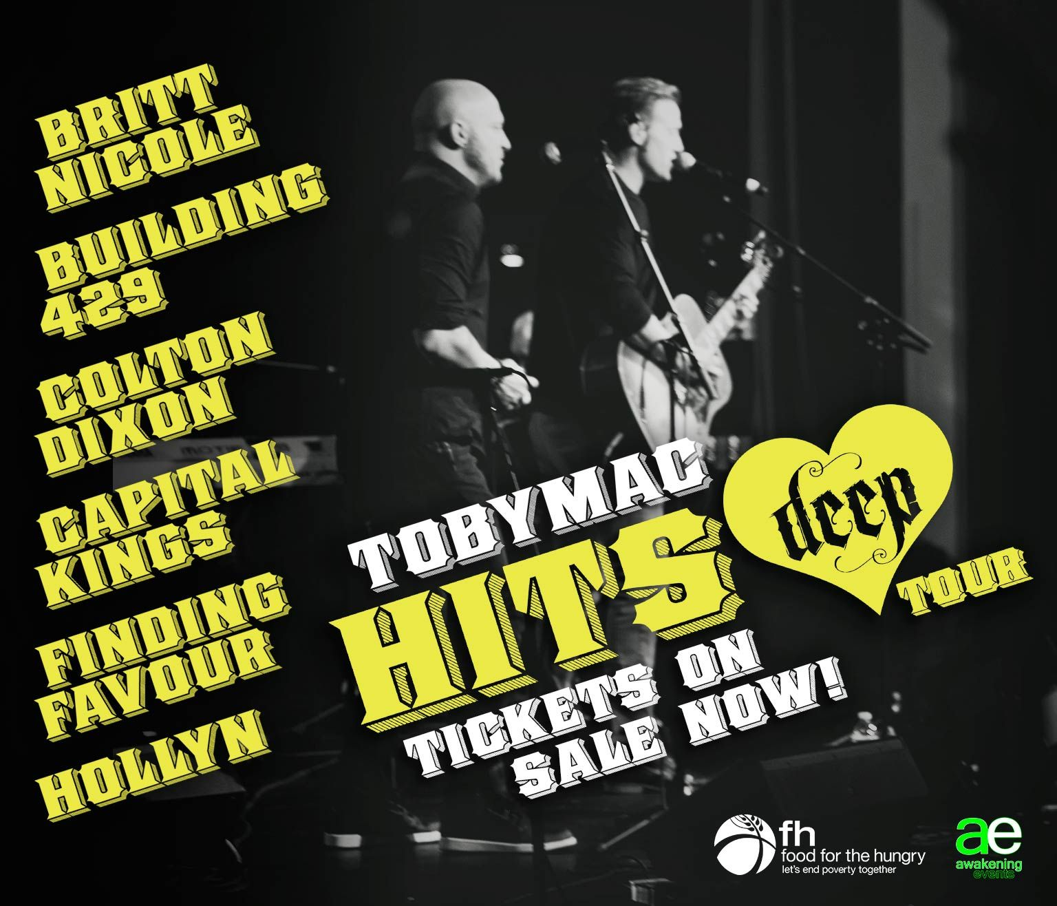 Do you have your tickets yet?? The #HitsDeepTour is getting closer, so get 'em while you can! http://air1.cta.gs/0v8