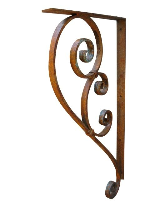 large wrought iron bracket dining room pinterest iron shelf shelf brackets and wrought iron. Black Bedroom Furniture Sets. Home Design Ideas