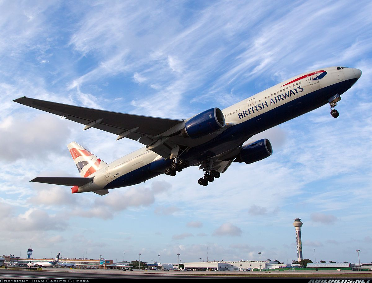British Airways Boeing 777-236/ER G-YMMF departing Cancún-International, March 2013. (Photo: Juan Carlos Guerra)