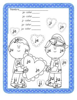 Students Will Color And Trace Syllables With Ja Je Ji Jo Ju Tareas