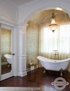 Bathroom Tub Chandeliers freestanding tub in alcove - google search | bathroom | pinterest