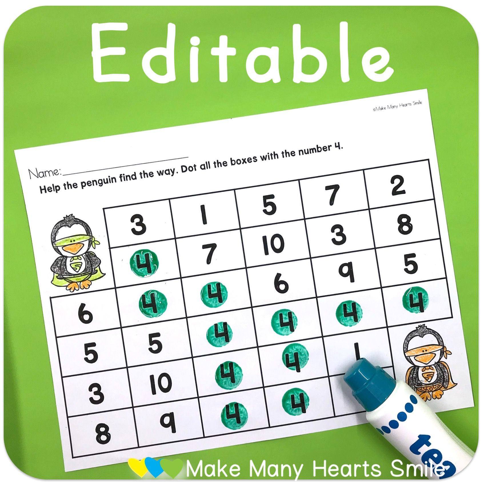 Editable Worksheets To Practice Letters Numbers And Sight