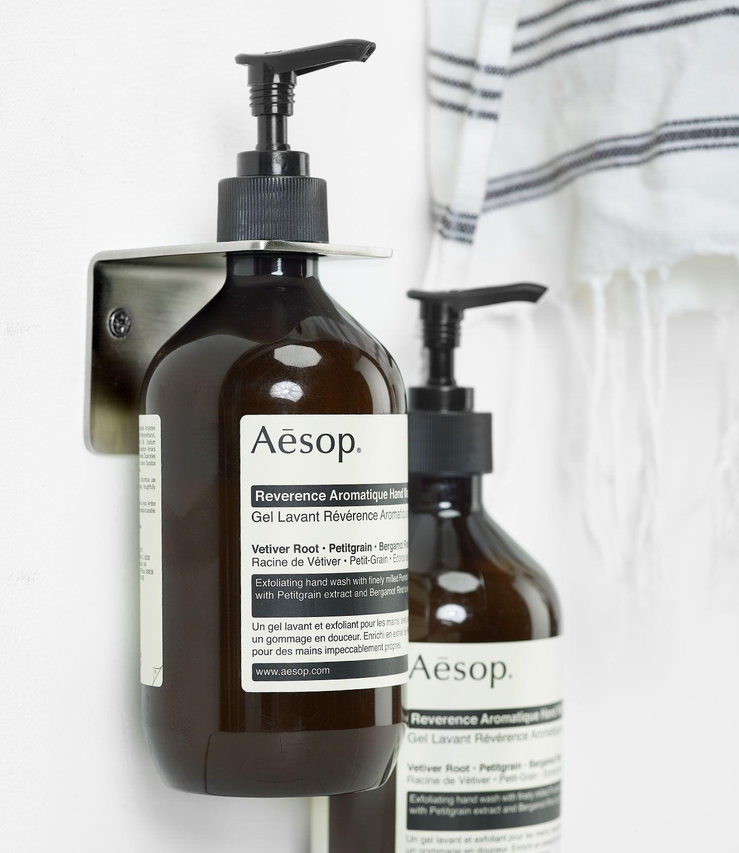 Brushed Silver Soap Dispenser Holder Body Balm Soap Aesop Soap