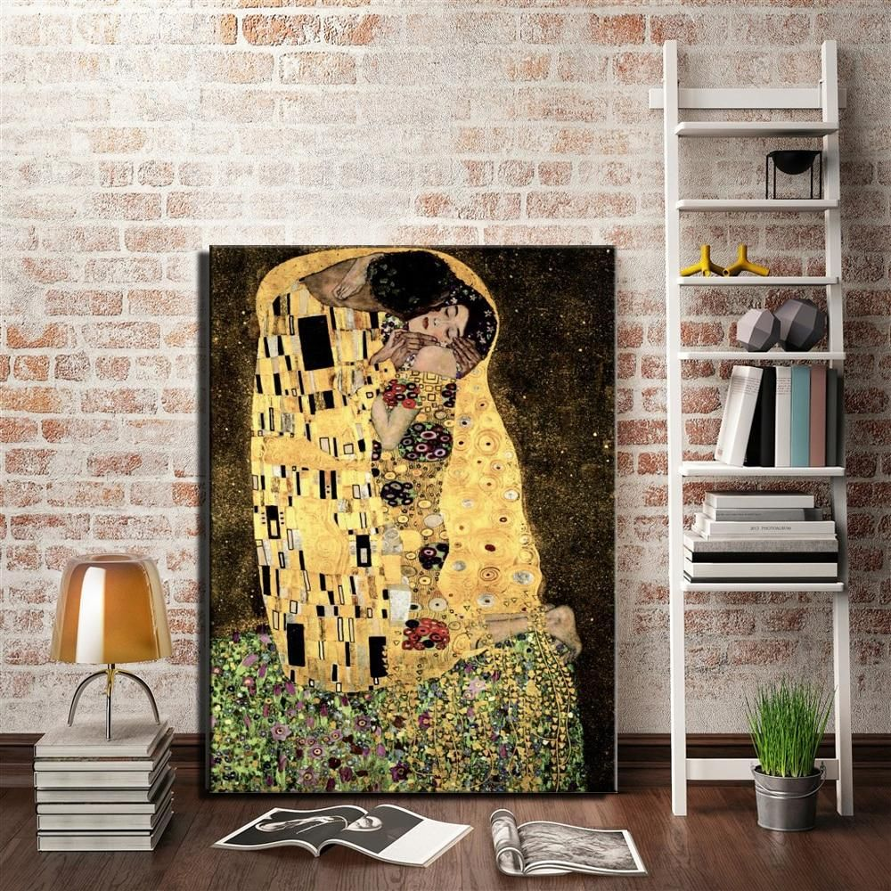 Gustav Klimt Love Design Canvas Print Picture Painting Frame Home Furnishings