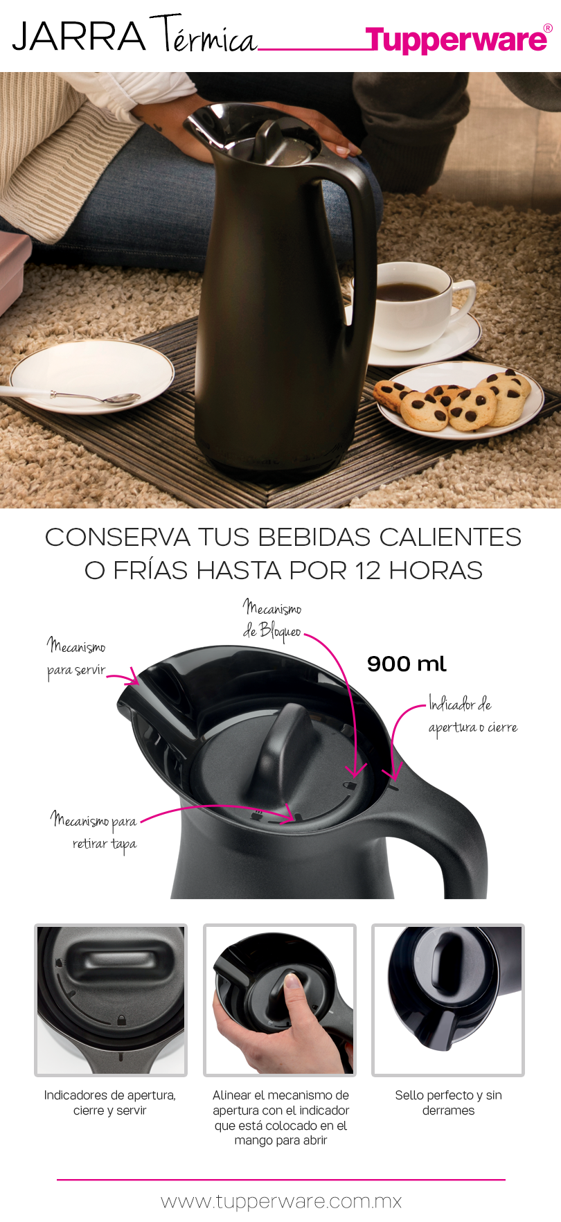 Nueva! Jarra Térmica Tupperware. | Productos Tupperware | Pinterest