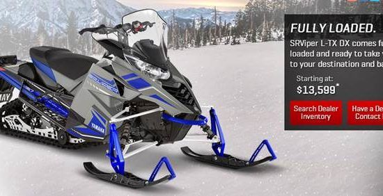 2018 Yamaha Srviper L Tx Dx Snowmobile Yamaha Price