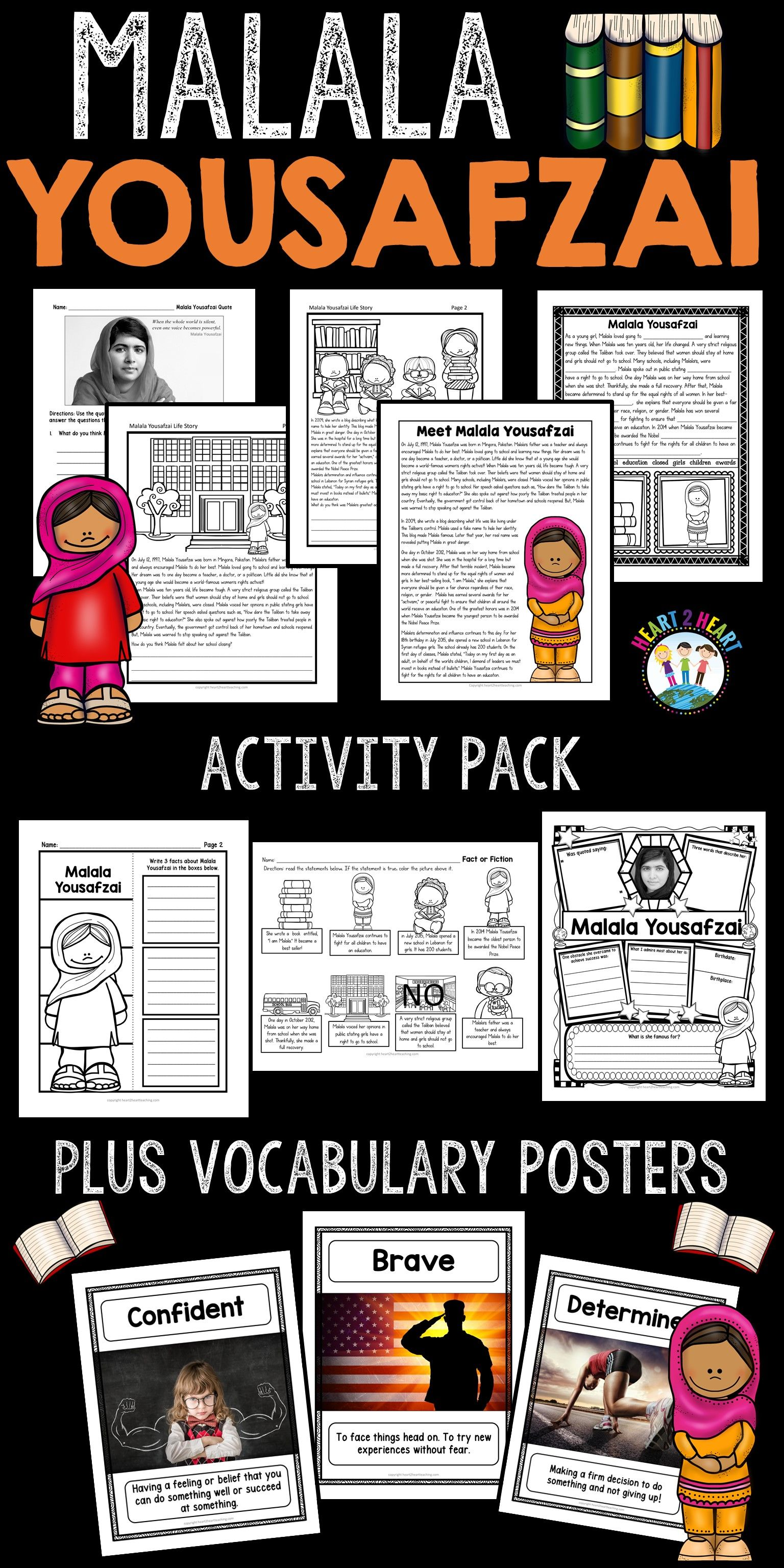 The Life Story Of Malala Yousafzai Unit With Articles Activities