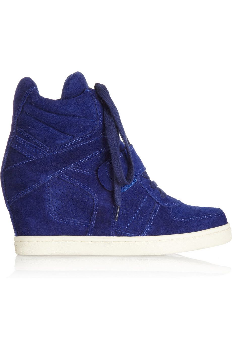 7e67e91f99f59 Cool suede wedge high-top sneakers by ASH