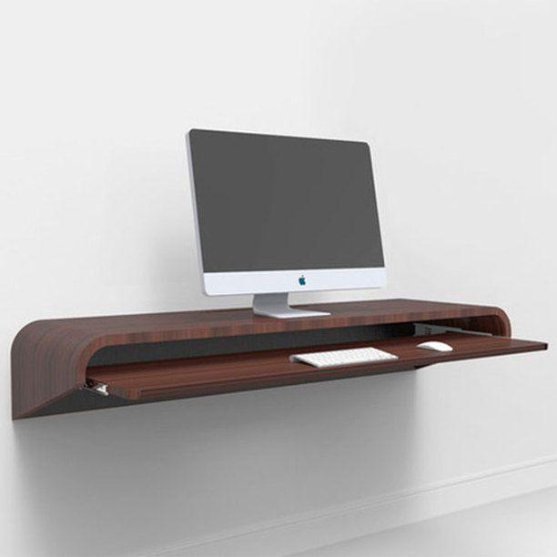 20 Trendy Minimal Home Office Design Ideas: Minimal Float Desk Walnut