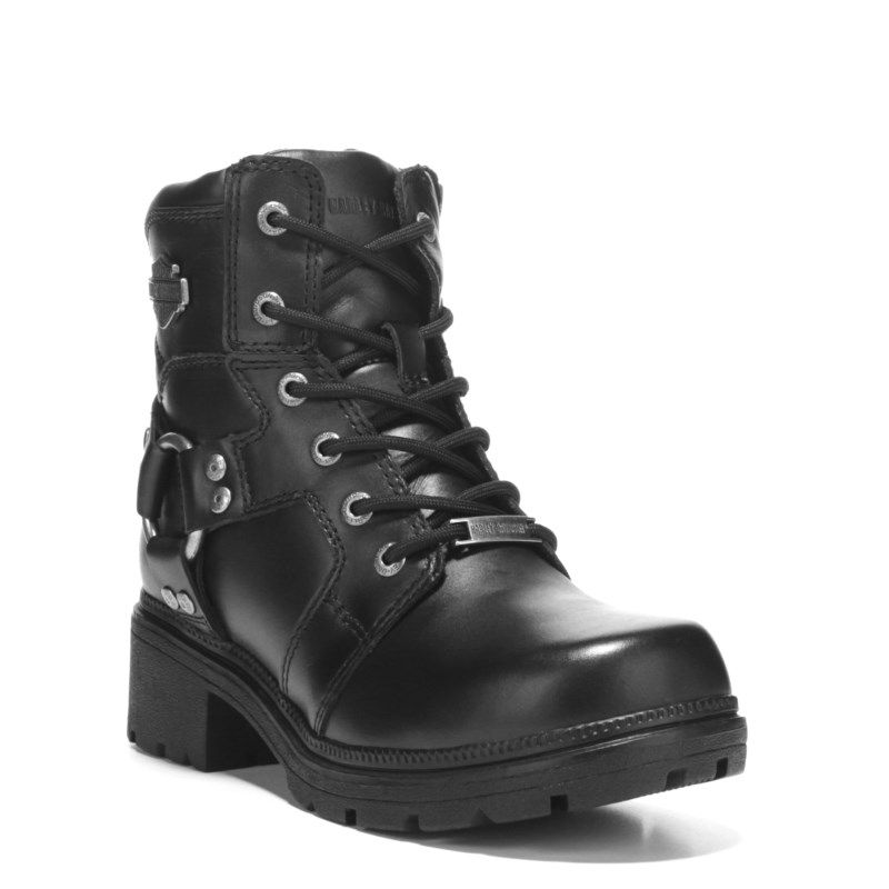 191419d6a3f8 Harley Davidson Women s Jocelyn Lace Up Boots (Black Leather) in ...