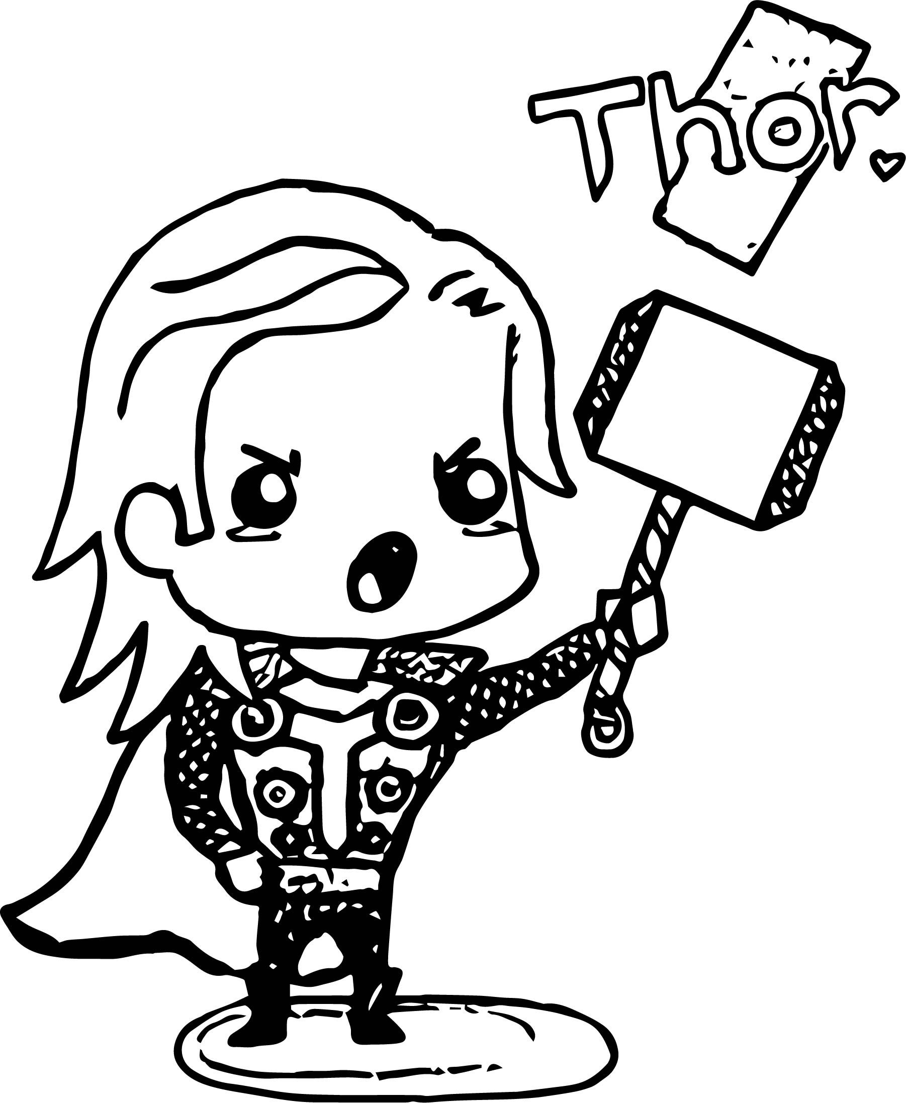 Avenger Babies Thor Coloring Page Coloring Page