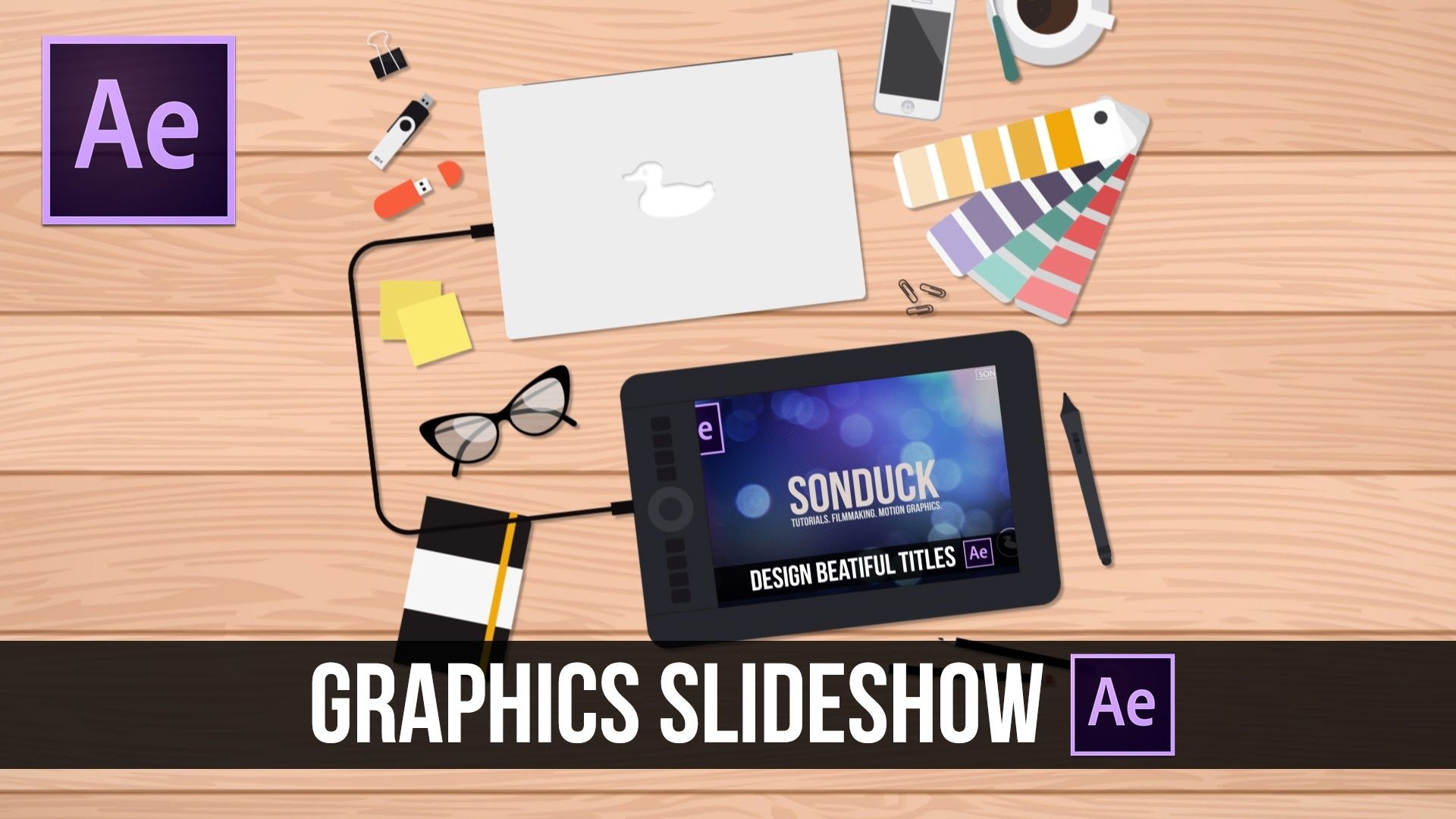 After Effects Tutorial: 2D Motion Graphics Slideshow | After Effects
