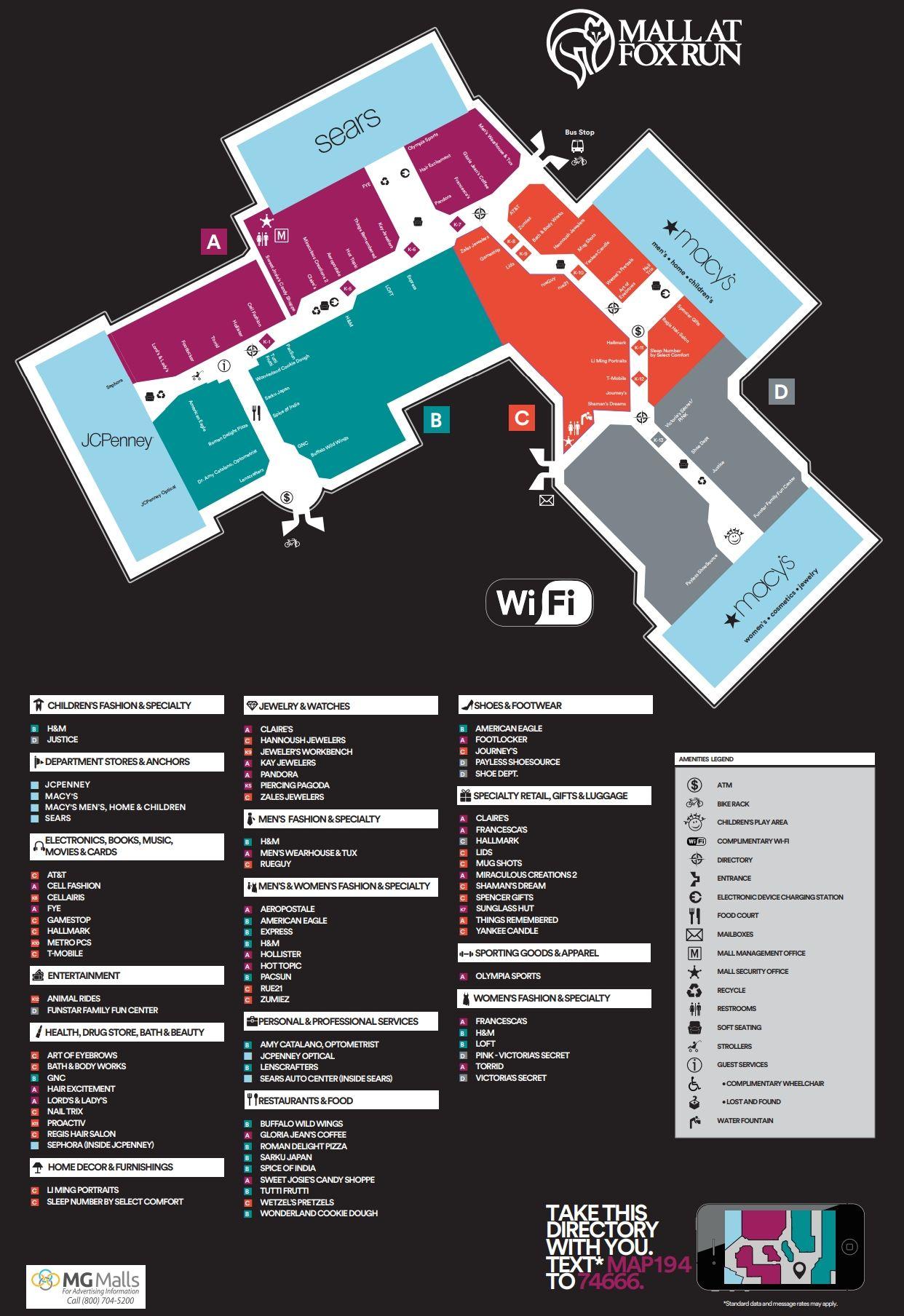 The Mall At Fox Run Shopping Plan Mall Digital Signage Newington