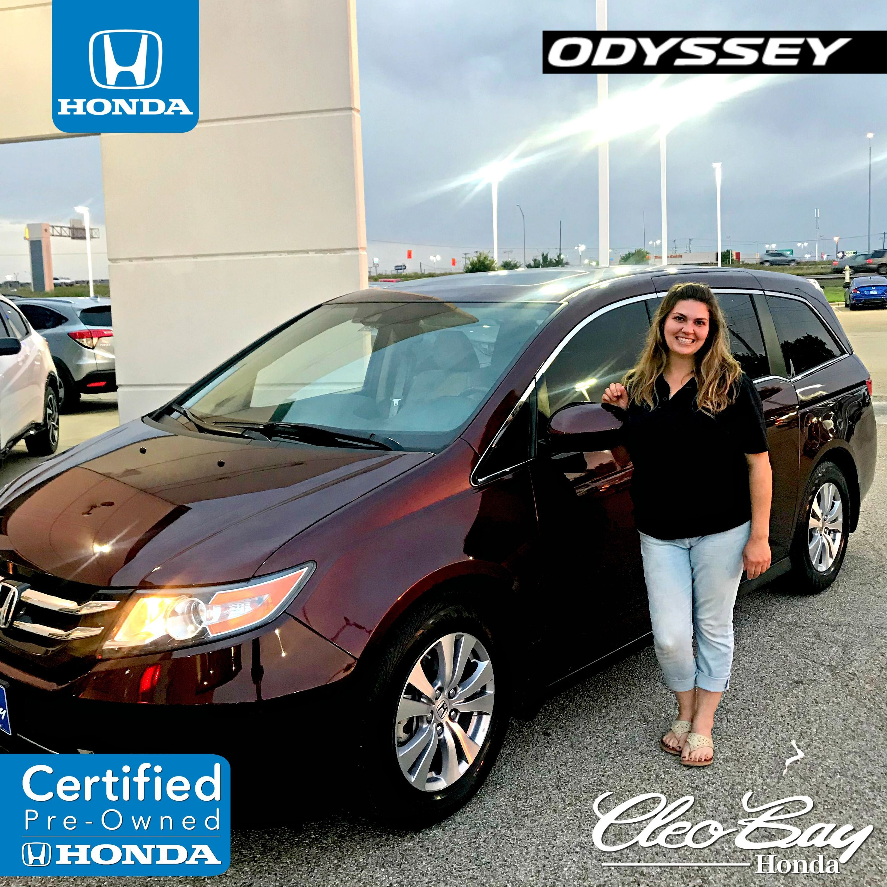 Congratulations Lindsey On Your Recent Purchase Of A Certified Pre Owned 2015 Honda Odyssey Ex L Click The Pi Honda Sales Honda Civic Ex Honda Civic Hatchback