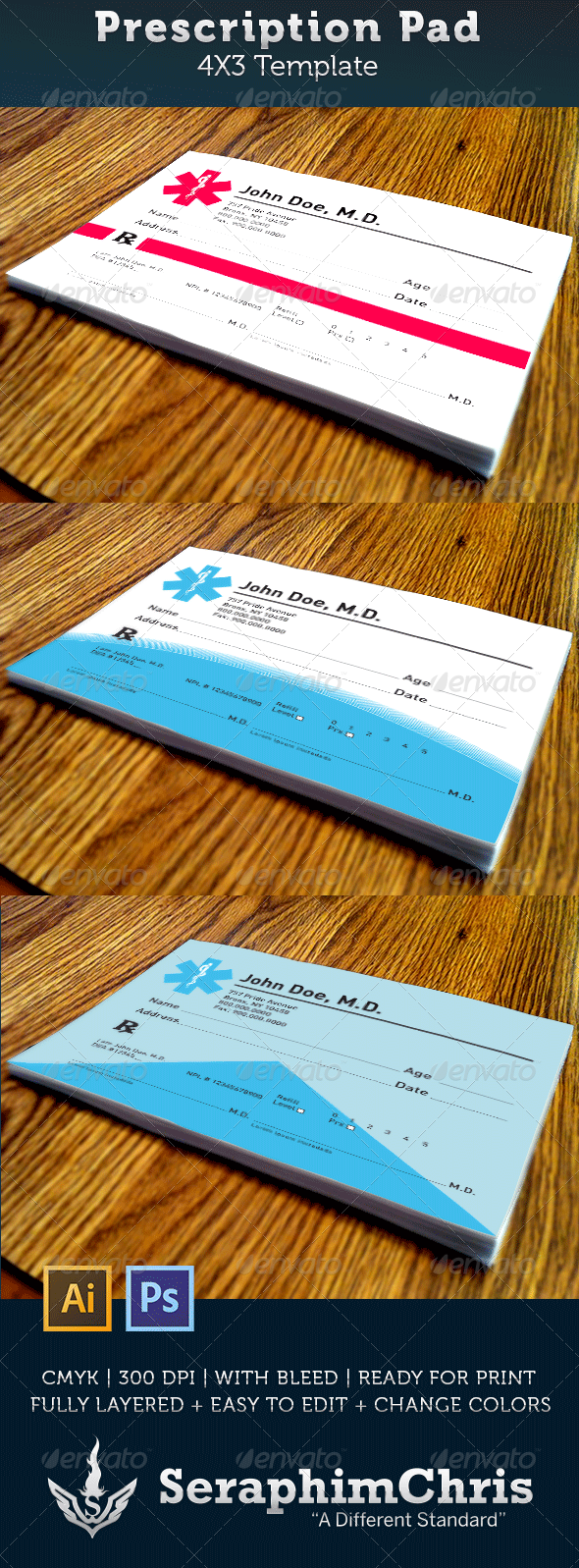 Prescription Pad Template – Doctor Prescription Template