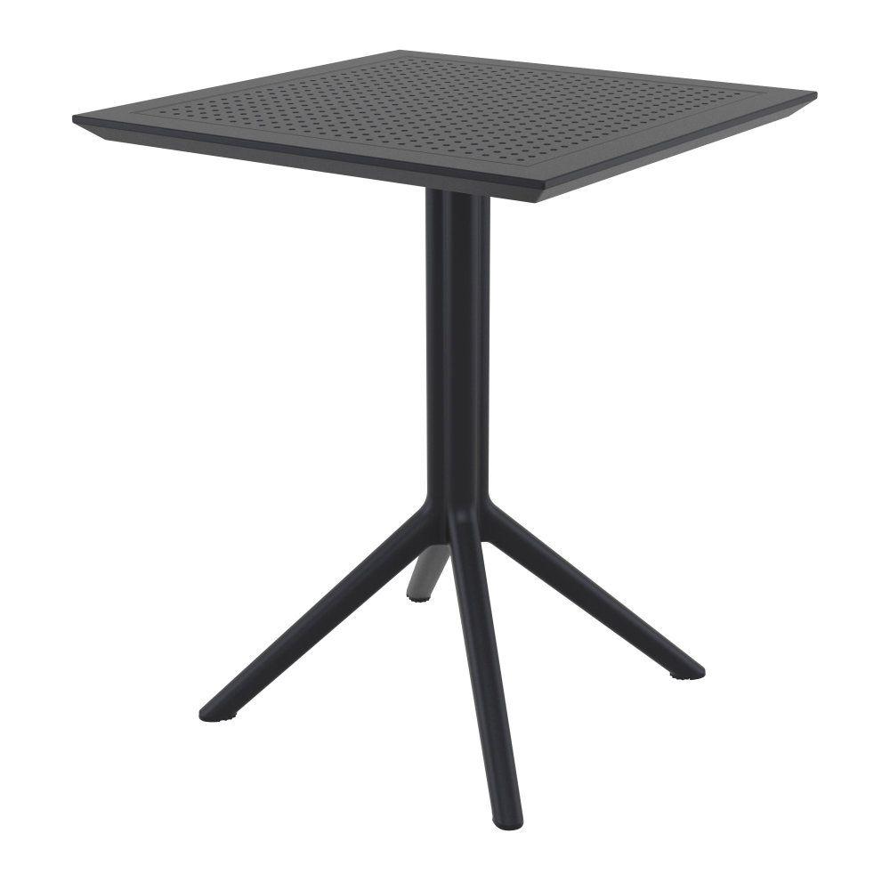 Compamia Sky Square Folding Table 24 Inch Black Isp114 Bla Folding Table Outdoor Dining Table Dining Table