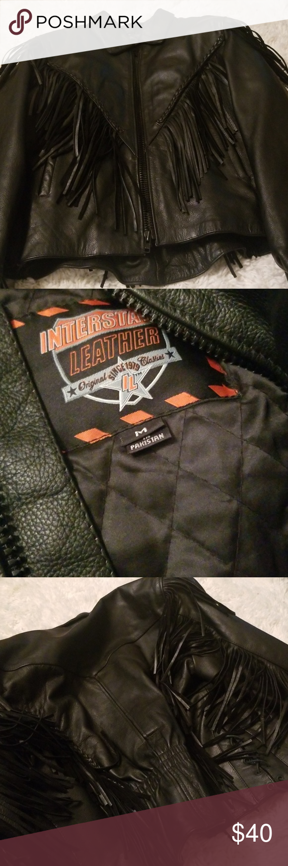 Interstate Leather Leather Jacket Black Leather Jacket Leather [ 1740 x 580 Pixel ]